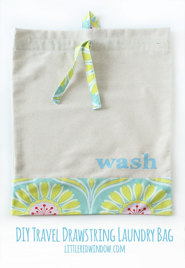 Sew a DIY Drawstring Travel Laundry Bag, and keep your suitcase organized (and cute)!