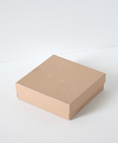 blank brown jewelry gift box on a white background