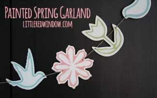Painted Spring / Easter Garland