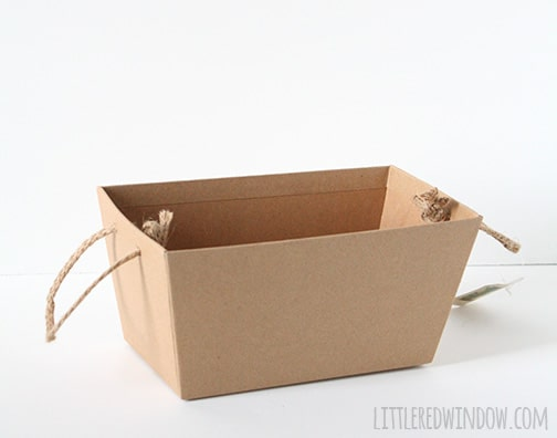 plan paper mache basket with rope handles