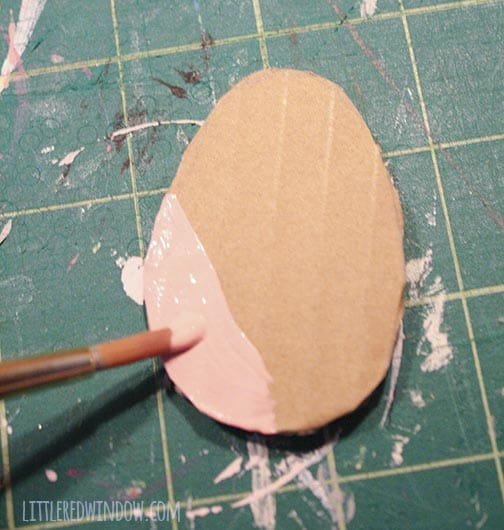 Paint your cardboard Easter eggs with acrylic craft paint!
