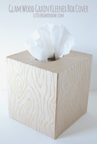 Glam Wood Grain Kleenex Box Cover
