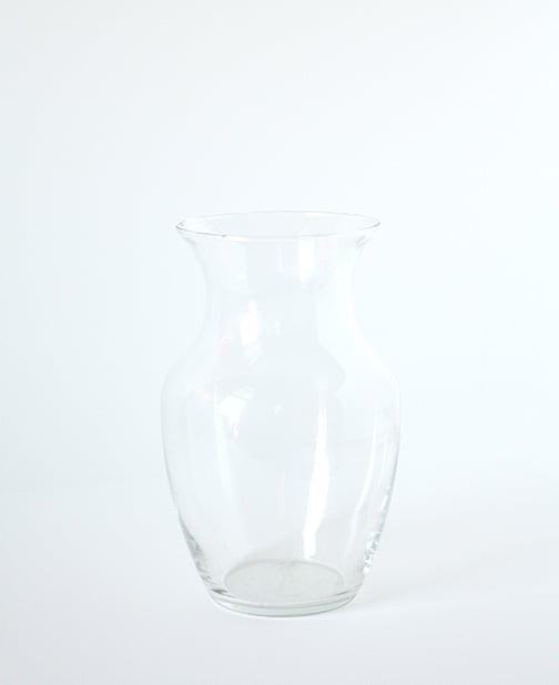 Poured Paint Florist Vase | littleredwindow.com | A simple and beautiful way to spruce up a plain clear glass florist vase!