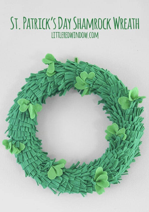 St. Patrick's Day Shamrock Wreath