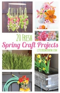 20 Fresh Spring Craft Projects | littleredwindow.com