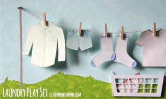 DIY Laundry Play Set