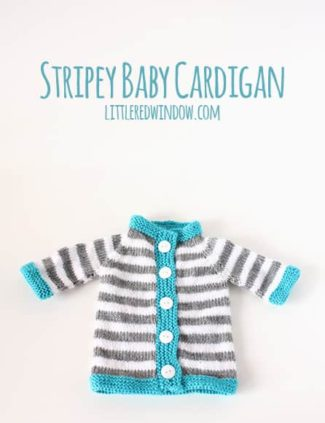 Stripey Baby Bunting Cardigan
