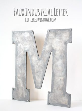Faux Metal Industrial Monogram