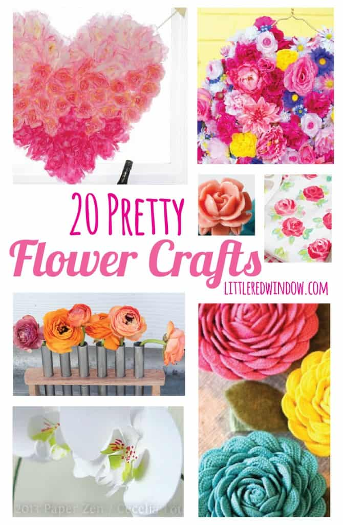 20 Pretty Flower Crafts | littleredwindow.com | Get inspired by some beautiful flower craft projects!