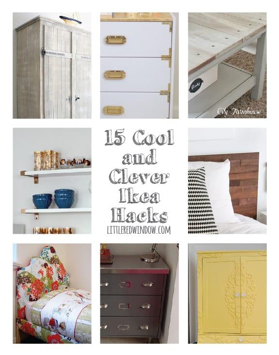 15 Cool and Clever Ikea Hacks | littleredwindow.com