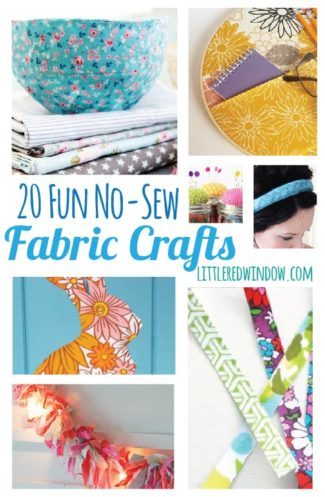 20 Fun No-Sew Fabric Crafts | littleredwindow.com