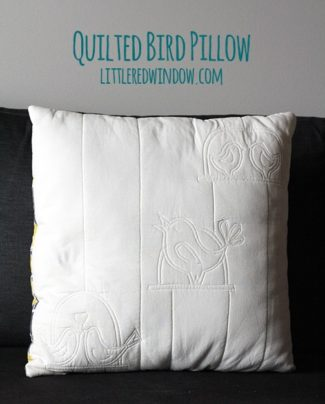 Quilted Bird Pillow