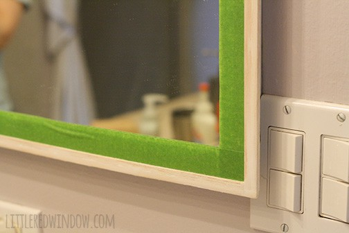 Diy Mirrored Medicine Cabinet Frame Little Red Window