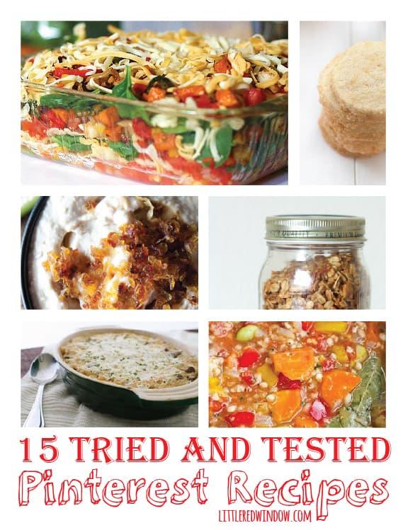 15 Tried and Test Pinterest Recipes | littleredwindow.com