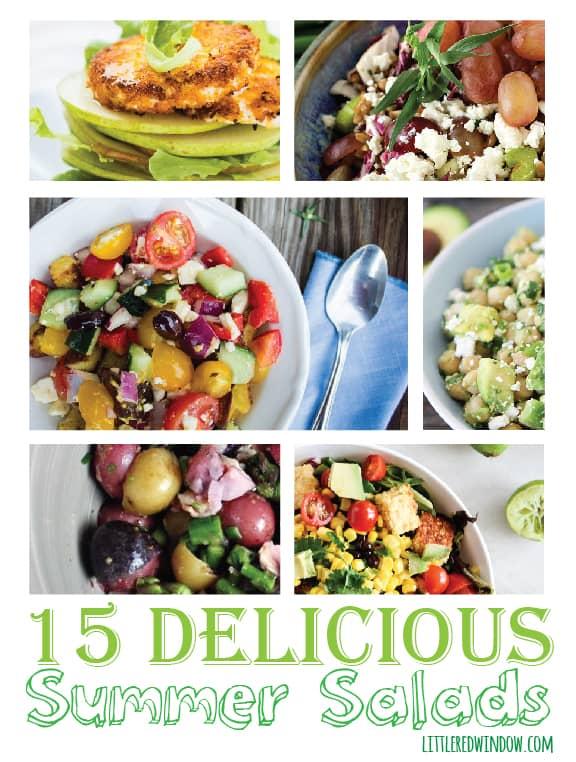 15 Delicious Summer Salads | littleredwindow.com