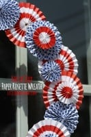 4th of July Rosette Wreath
