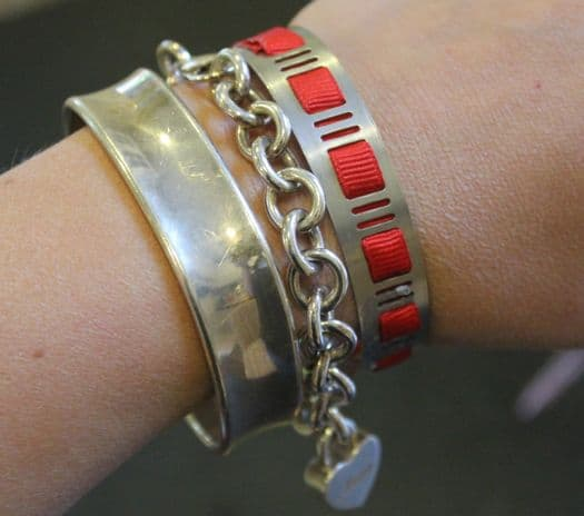 Bracelets made fro hardware and metal on a wrist