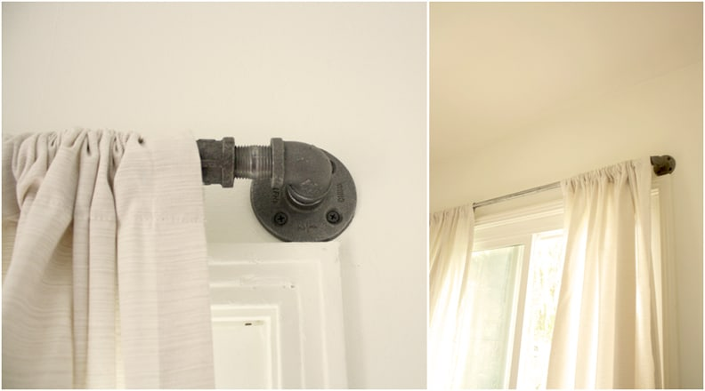 Curtain rod made from pipes