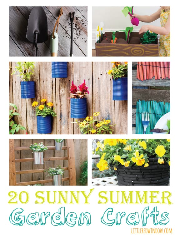 20 Sunny Summer Garden Crafts | littleredwindow.com