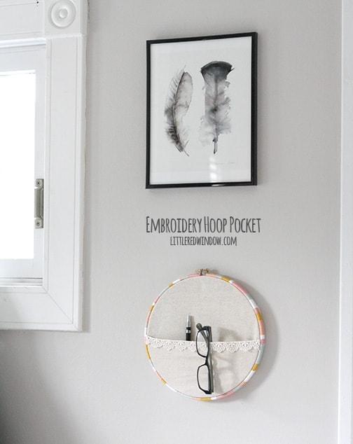 Embroidery Hoop Pocket Tutorial |  littleredwindow.com