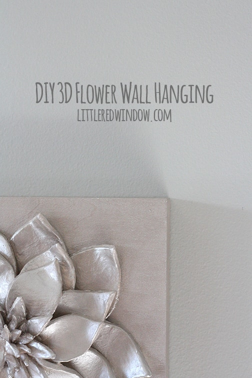 DIY 3D Flower Wall Hanging |  littleredwindow.com