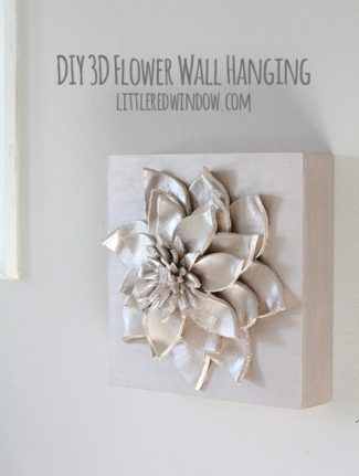 DIY 3D Flower Wall Hanging