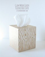 Wood Grain Kleenex Box Cover