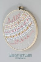 Embroidery Hoop Sampler