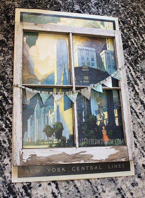 Vintage Window Poster Frame |  littleredwindow.com