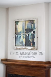 Vintage Window Poster Frame | littleredwindow.com