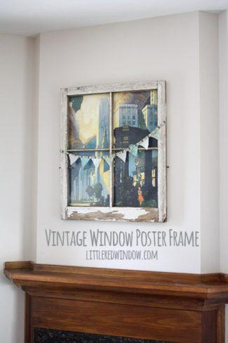 Vintage Window Poster Frame