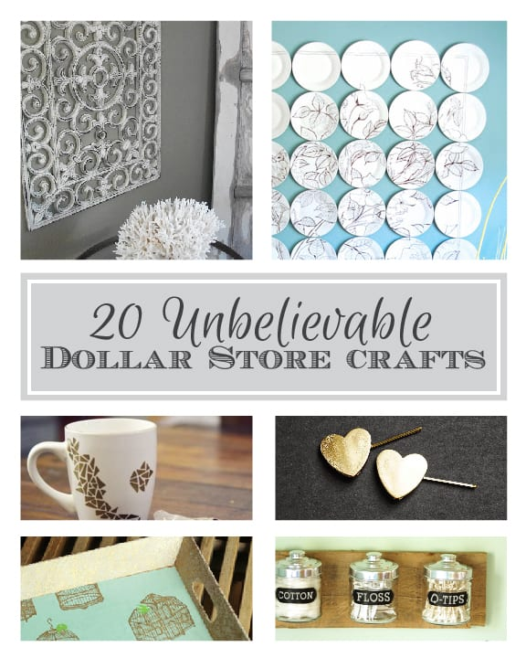 20 Unbelievable Dollar Store Crafts! | littleredwindow.com