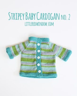 Stripey Baby Cardigan Sweater No. 2