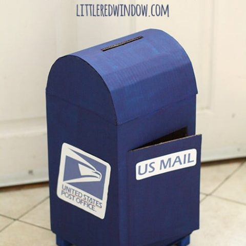 DIY Cardboard Mailbox - Little Red Window