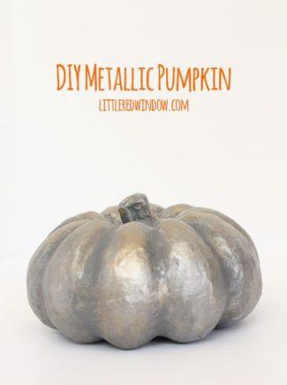 Spooky Metallic Pumpkin