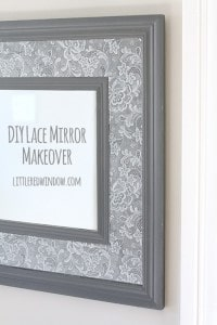 DIY Lace Mirror Makeover | littleredwindow.com