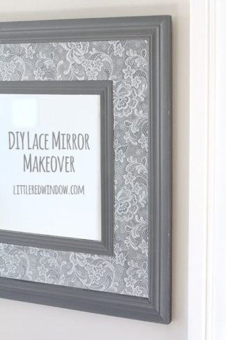 Lace Mirror Makeover