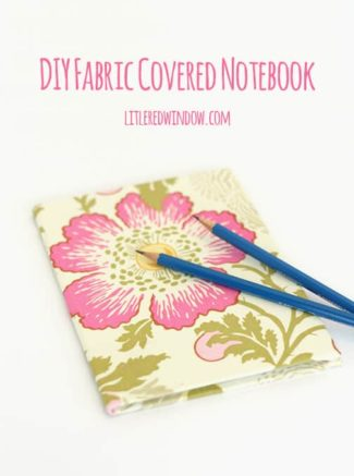 Fabric Wrapped Notebook