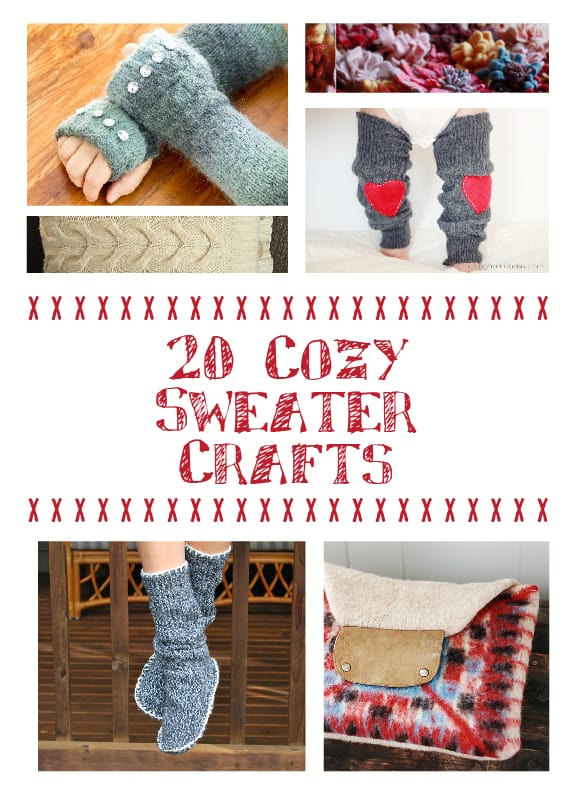 Cuddle up with this collection of Cozy Sweater Crafts! | littleredwindow.com