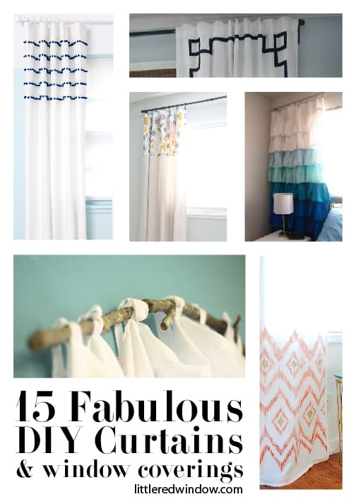15 Fabulous DIY Curtains, Shades and Window Coverings | littleredwindow.com