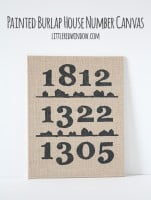 Painted Burlap House Numbers