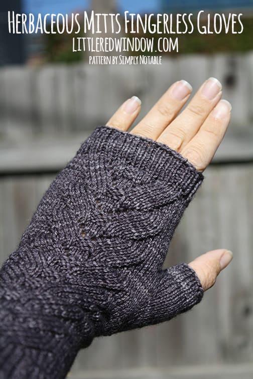 Herbaceous Mitts Fingerless Gloves | littleredwindow.com