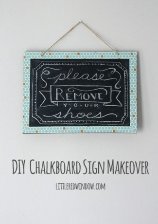 DIY Chalkboard Sign Makeover