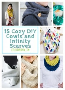 15 Cozy Cowls and Infinity Scarves to DIY   littleredwindow.com