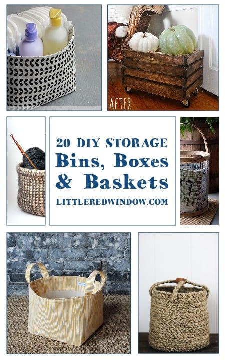 20 DIY Storage Bins, Baskets, and Boxes
