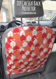 Sew your own DIY Car Seat Protector and keep your seat backs clean and footprint free! | littleredwindow.com