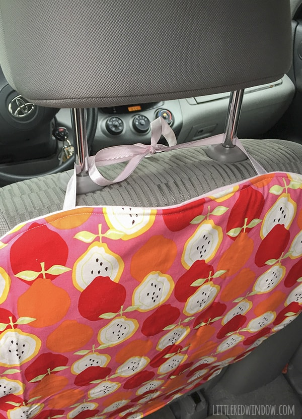 Sew Your Own DIY Car Seat Protector And Keep Backs Clean Footprint Free