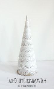 Lace Doily Christmas Tree | littleredwindow.com