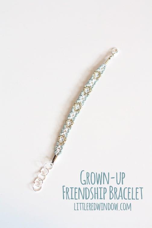 Grown-Up Friendship Bracelet  | littleredwindow.com