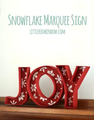 Christmas Snowflake Marquee Sign